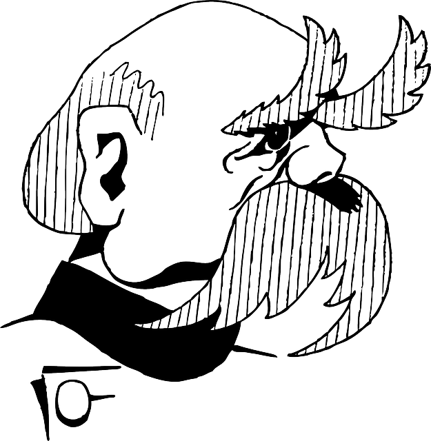 otto, man, portrait, person, cartoon, bald, bismarck