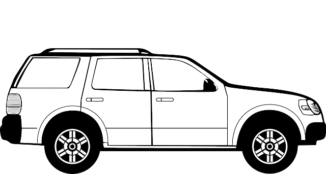 outline, car, cartoon, vehicles, side, suburban