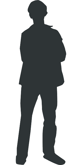 outline, man, silhouette, person, human, standing