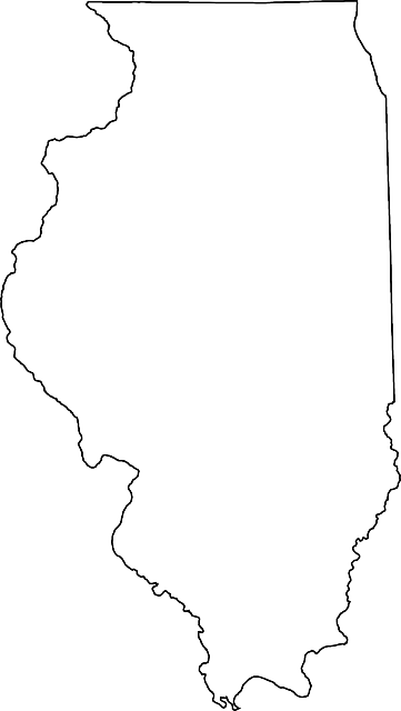 outline, map, state, silhouette, illinois, us, use
