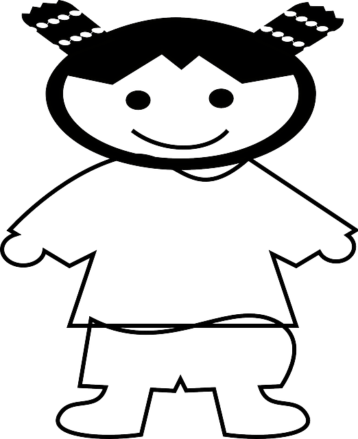 outline, people, happy, kid, girl, cartoon, chinese