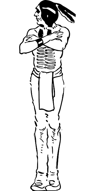 outline, people, man, male, indian, automatic, brave