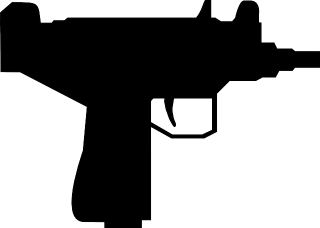 outline, silhouette, cartoon, gun, mini, machine, guns