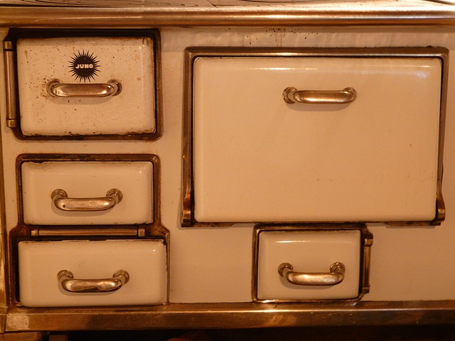 oven, stove, fireplace, doors, folding, enamel, old