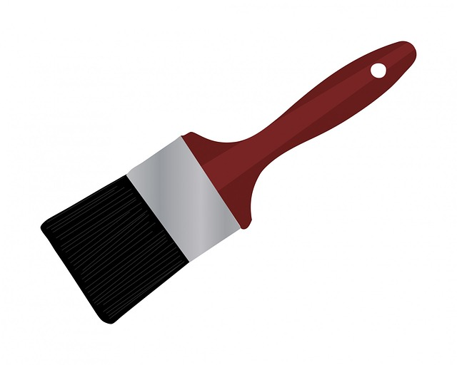 paint brush, brush, tool, implement, decorating, art
