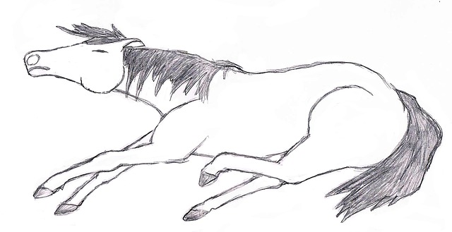 painting, drawing, horse, pony, suffering, dead