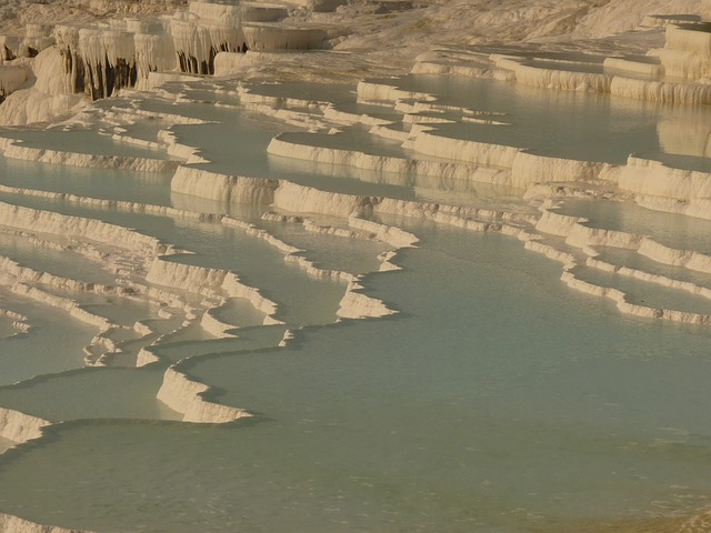 pamukkale, lime sinter terrace, calcium, unesco