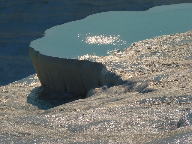 pamukkale, lime sinter terrace, swim, calcium, unesco
