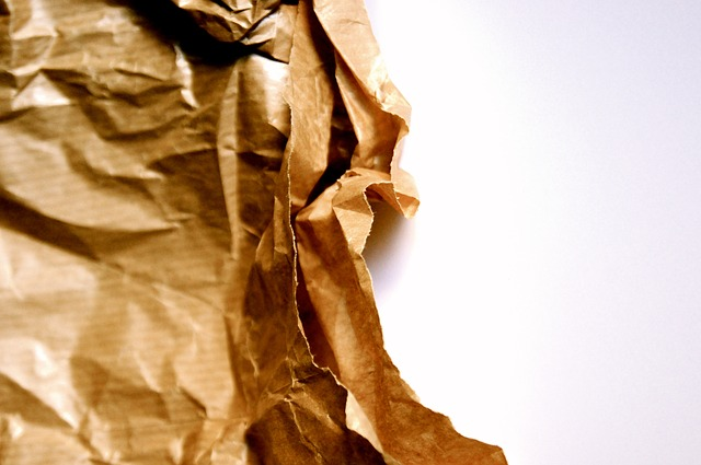 paper, old, brown, fold, crumples, background, altstoff