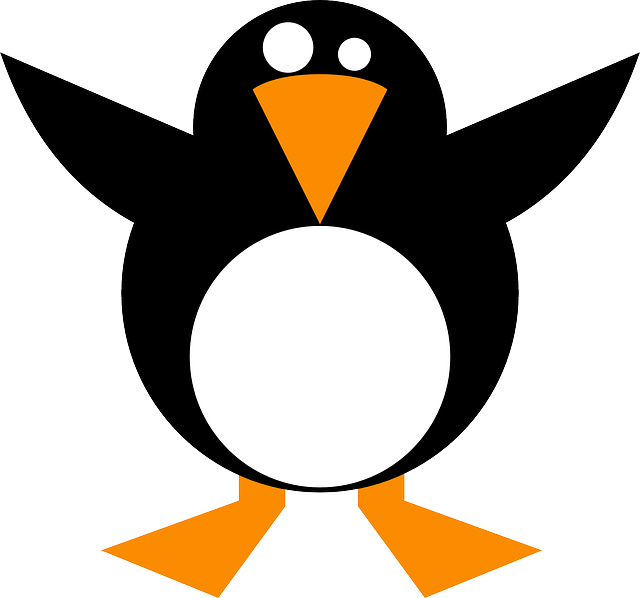 penguin, black, cold, linux, orange, white, tux, wings