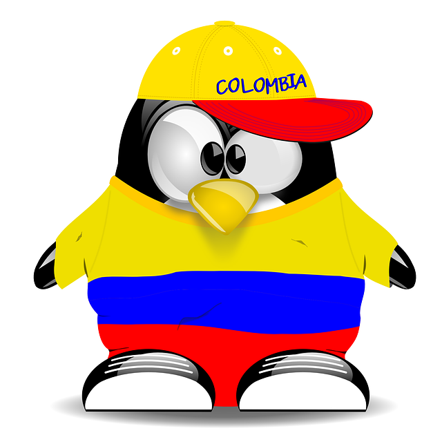 penguin, colombia, tux, colors, patriot