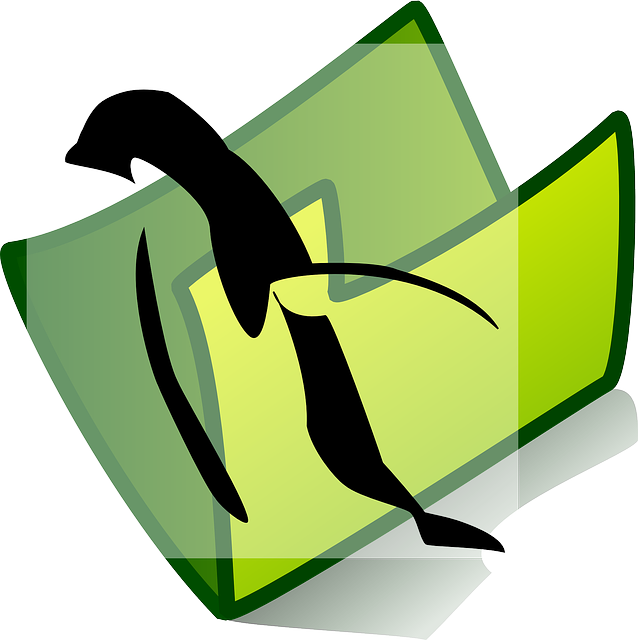 penguin, icon, folder, theme, picture