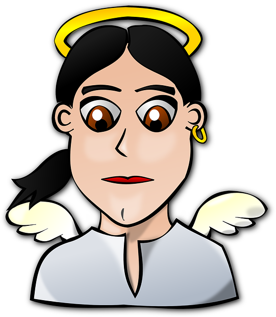 people, faces, face, cartoon, angel, earring, crown