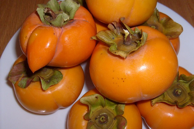 persimmons, orange, fruit