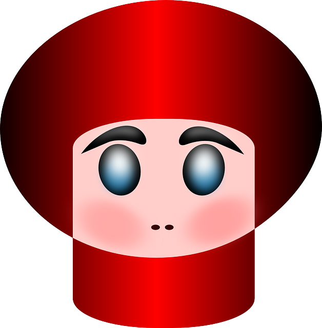 person, avatar, funny, red, hat