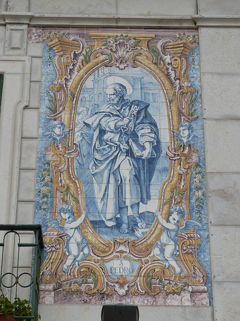 peter, apostle, church, think, image, tile, art, key