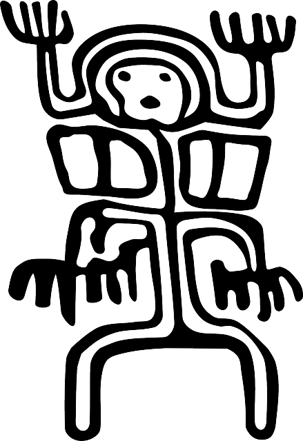 petroglyph, colombia, ancient, human, person, primitive