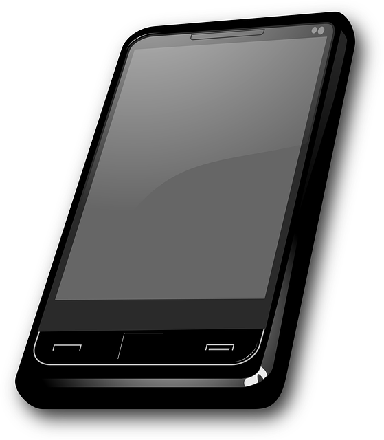 phone, screen, flat, icon, cell, display