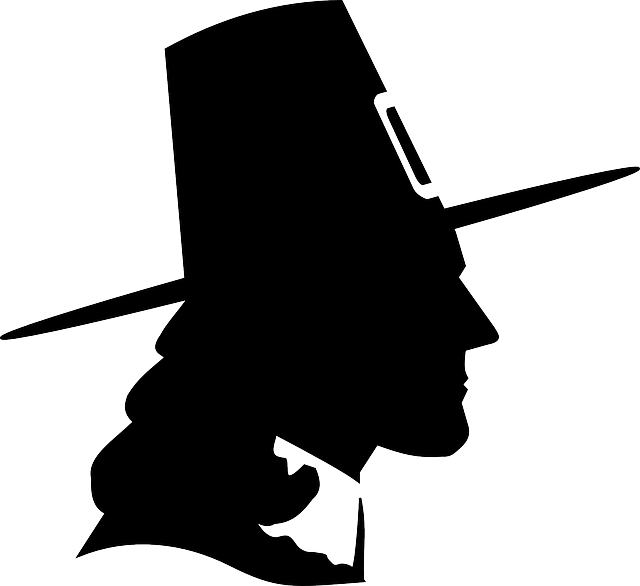 pilgrim, puritan, thanksgiving, hat, man, male, head