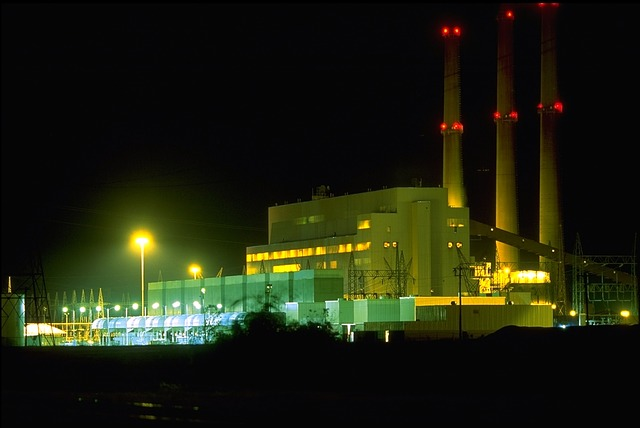 plant, fossil fuel, energy, electricity, night, evening