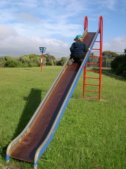 playground, slide, children's playground, play