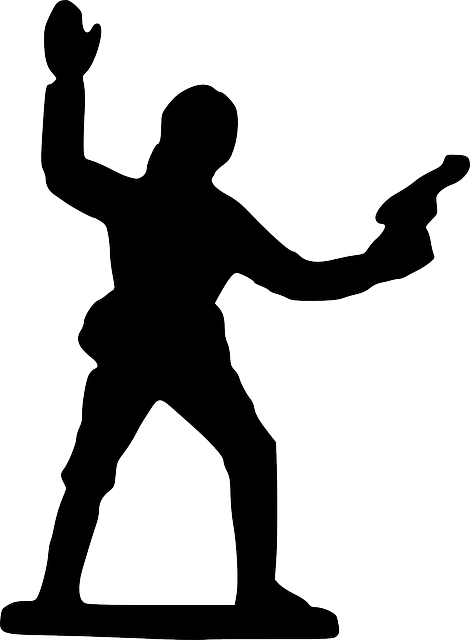 point, silhouette, cartoon, toy, standing, soldier