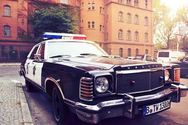 police car, auto, vehicle, city, berlin, police