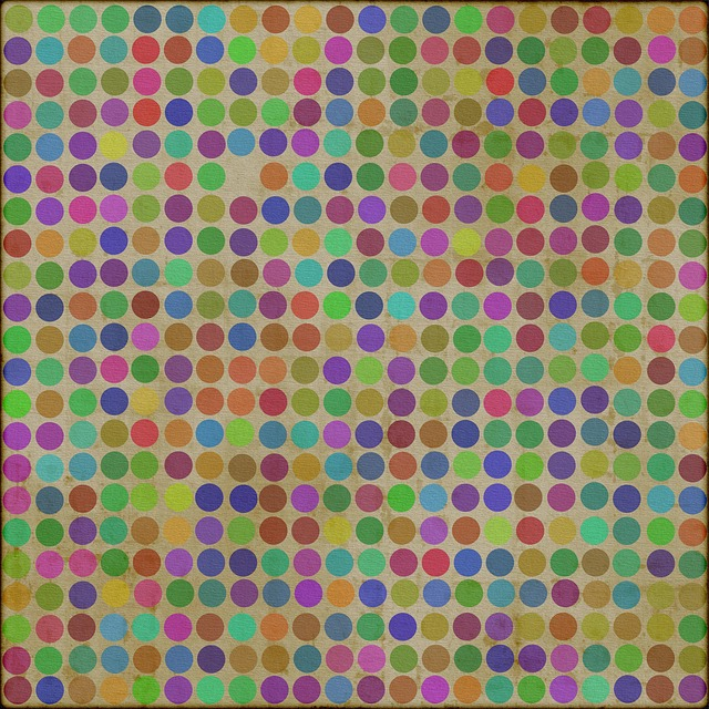 polka dots, pattern, grunge, vintage, retro, colors