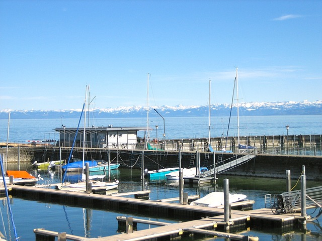 port, lake constance, alpine