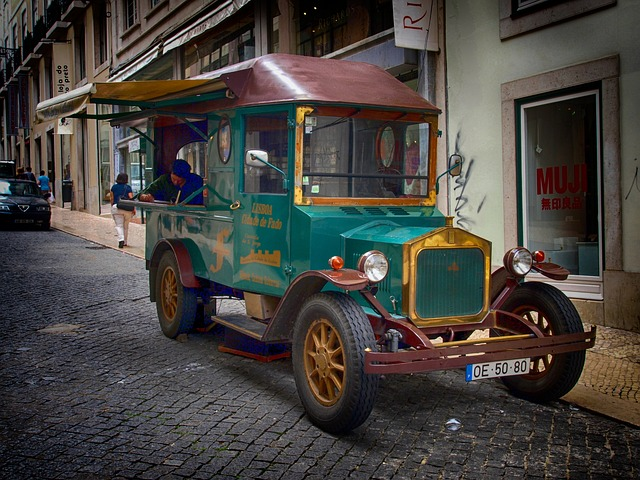 portugal, truck, vehicle, transportation, street