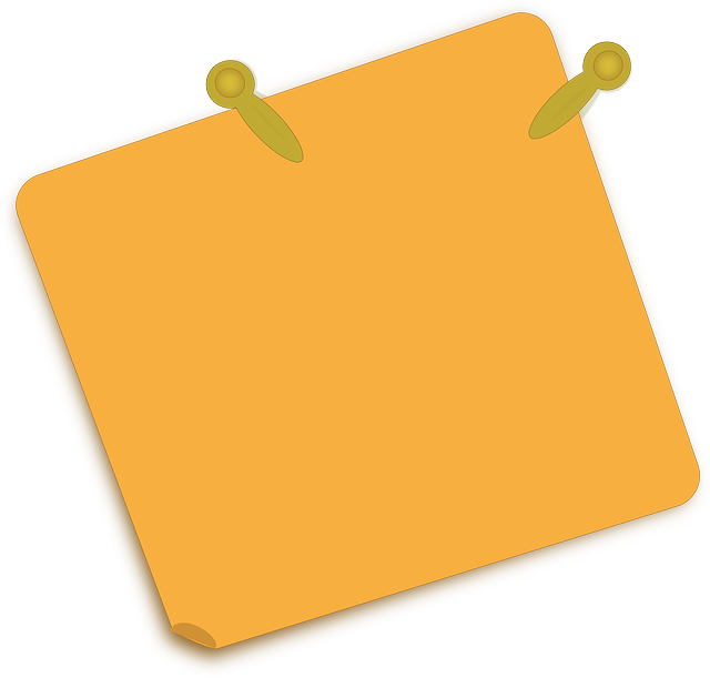 post-it, brass, fastener, note, notepaper, orange