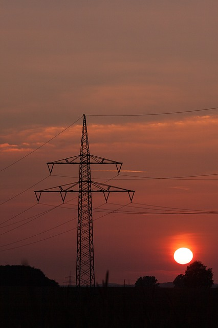 power lines, pylons, power poles, current, cable