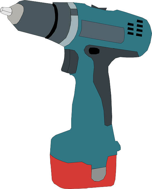 powered, hand, cartoon, battery, tools, drill, electric