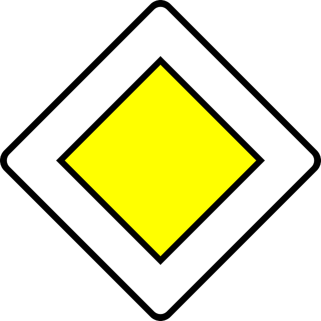 priority road, traffic sign, sign, road sign