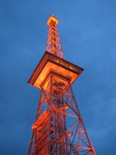 radio tower, berlin, landmark, evening sky