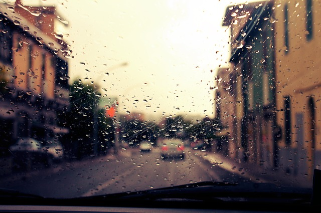 rain, machine, road, auto, water, drops