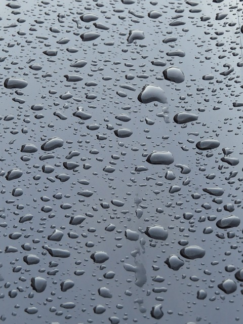 raindrop, rain, wet, shine, auto, paint, black, run off