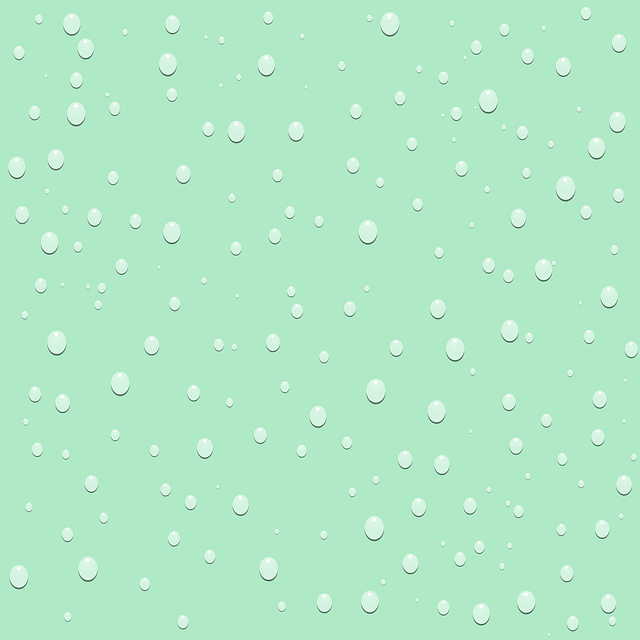 raindrops, drops, wall, background, green, seamless