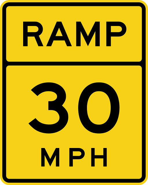 ramp, road, speed, traffic, 30 mph, 30, sign, road sign