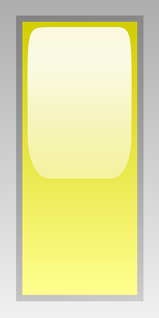 rectangular, yellow, signs, symbols, led, sign
