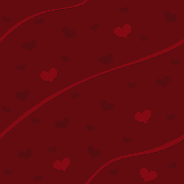 red, background, hearts, texture, ribbons, heart