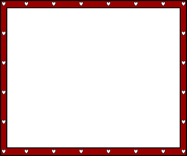 red, black, decorations, certificate, simple, frame