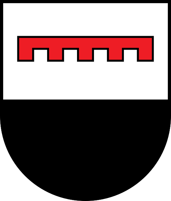 red, black, symbol, white, coat, arms, von