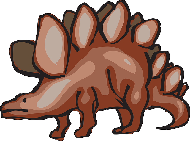 red, brown, dinosaur, stegosaurus, ancient, spikes, and