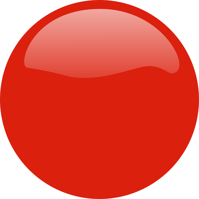 red, button, badge, circle, gloss