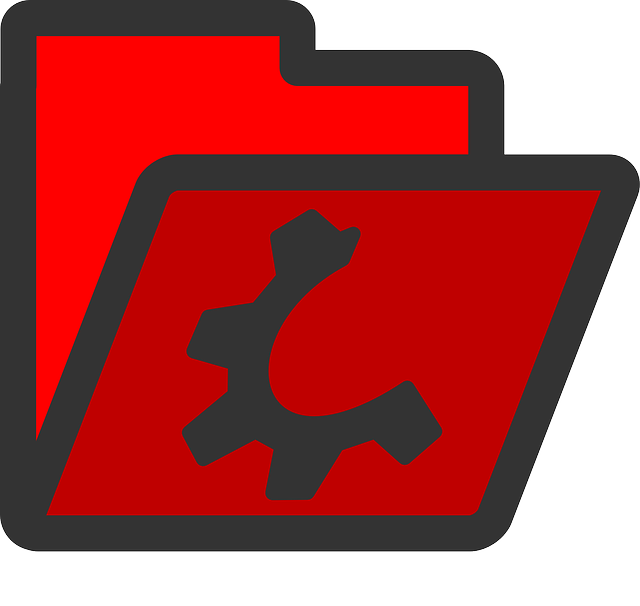 red, computer, flat, folder, open, directory, icon