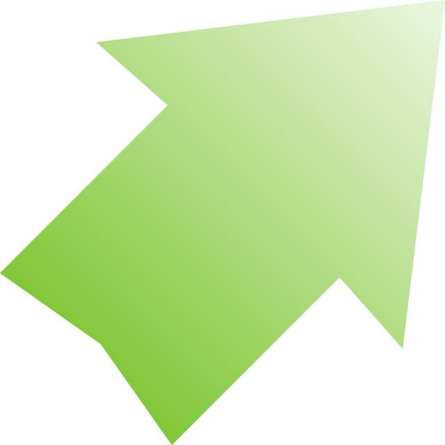 red, computer, green, icon, right, arrow, cartoon, down