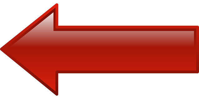 red, computer, icon, left, arrow, cartoon, shapes