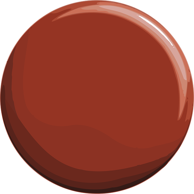 red, flat, circle, button, light, round