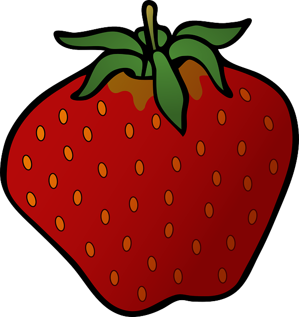 red, food, fruit, cartoon, strawberry, desserts